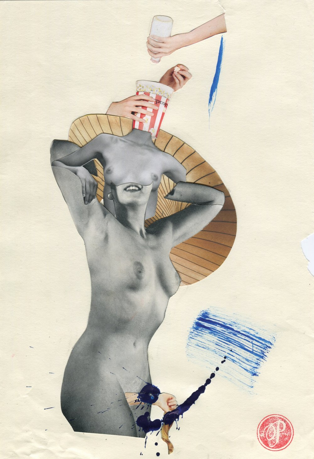 Milk, Collage print on paper, 59.4x42cm