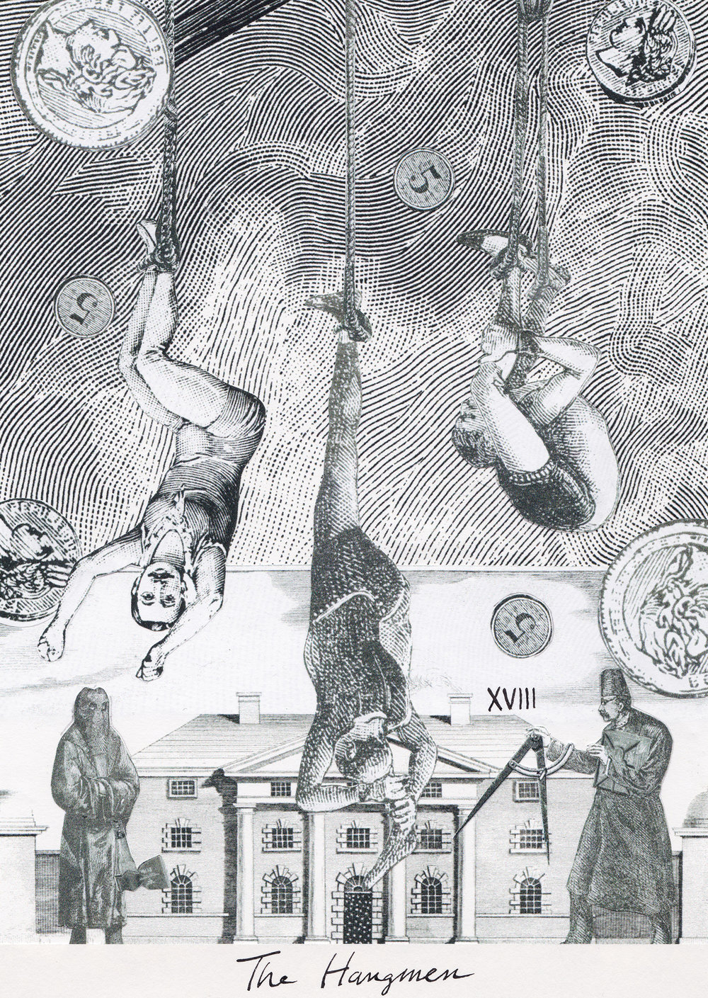 The Hangmen, Collage Giclée print on Hahnemühle Photo Rag, 21x14.8cm