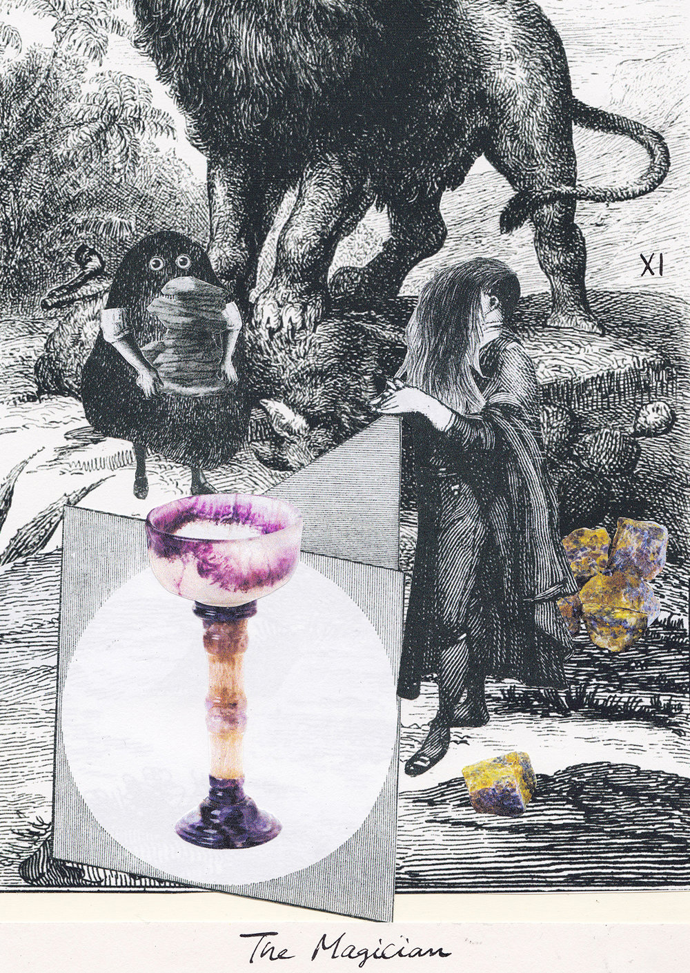 The Magician, Collage Giclée print on Hahnemühle Photo Rag, 21x14.8cm