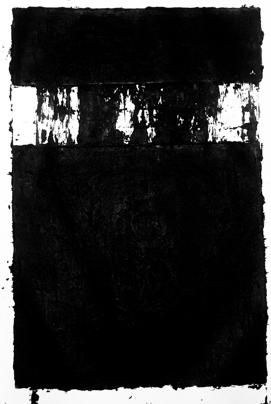 KH, tar on paper, 40x60 inches