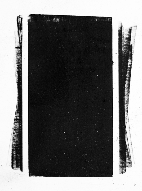 tu, charcoal, 5x8 inches