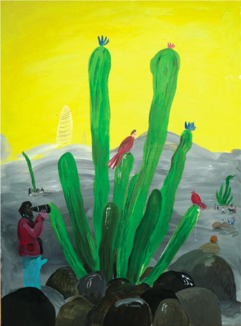 'Botanics', acrylic on perspex, 73x52cm
