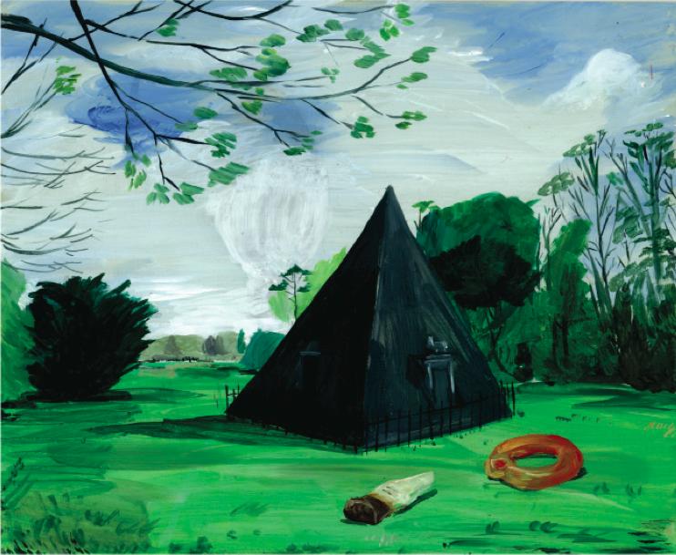 'Blickling Haribo', acrylic on perspex, 19x23cm