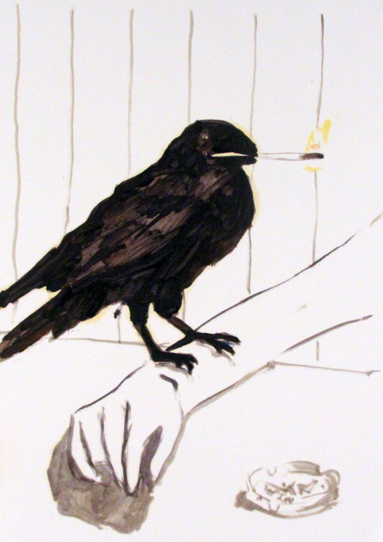Raven_42x29cm_Oil on paper.jpg