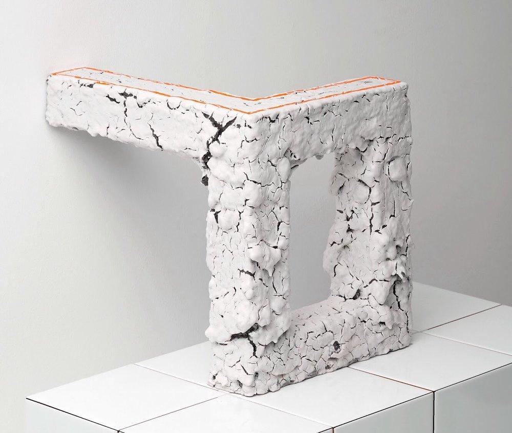 'Cube', 45x45x45cm, Porcelain, stoneware, pigments, glazes