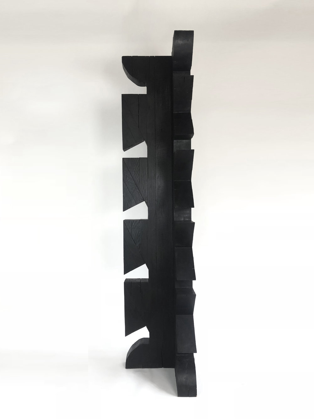 'Torr III', Burnt Oak finished with wax, 188x 40x40cm