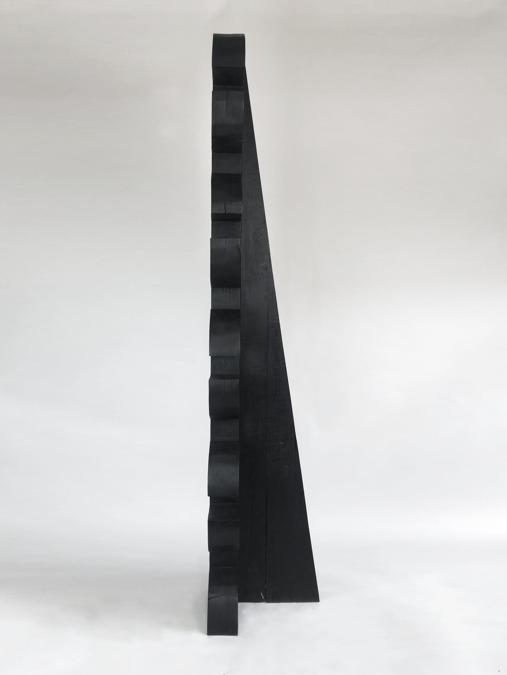 'Torr VI', Burnt oak finished with wax, 195x30x40cm