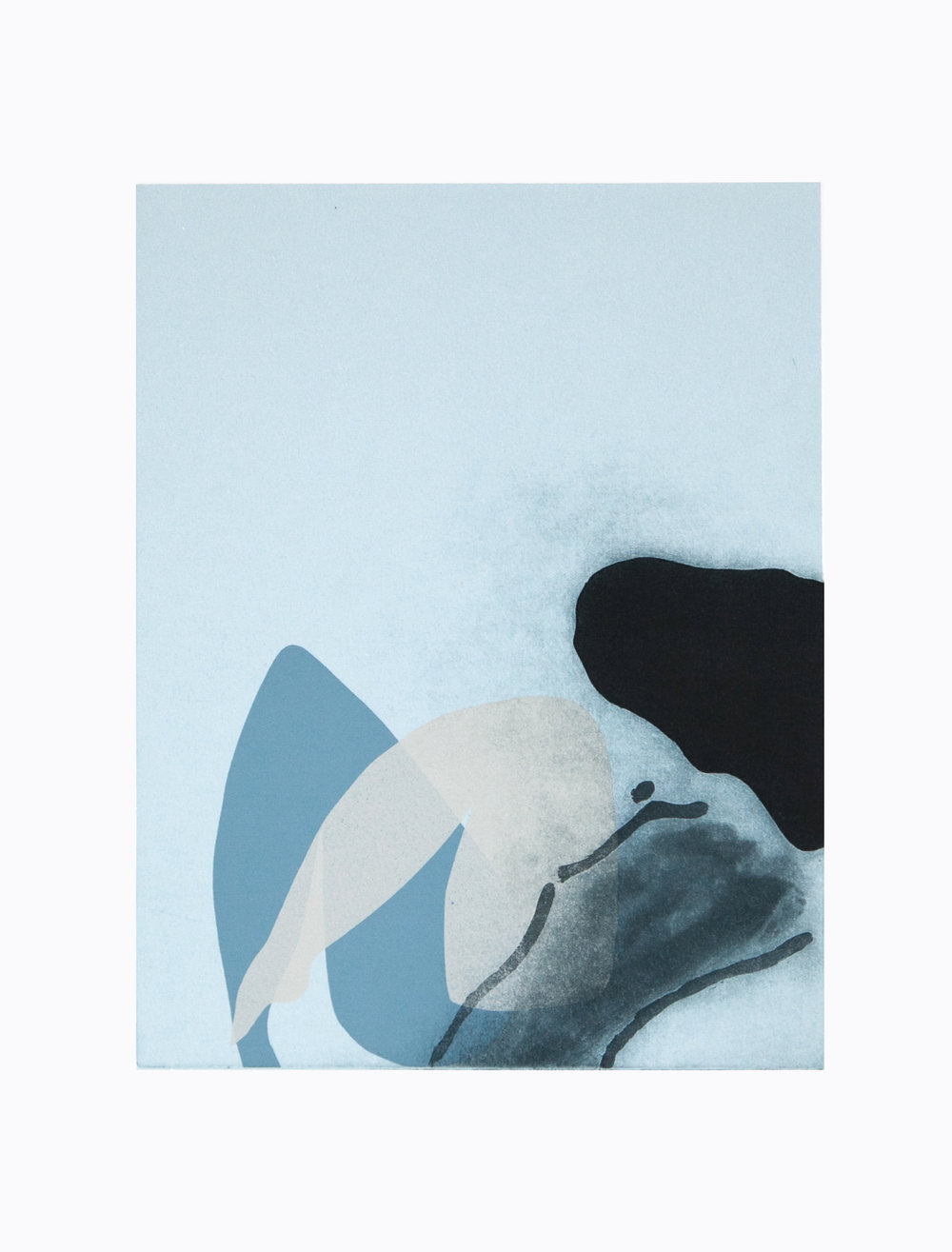 'Inner Moments III', screen print on paper, 39x28cm