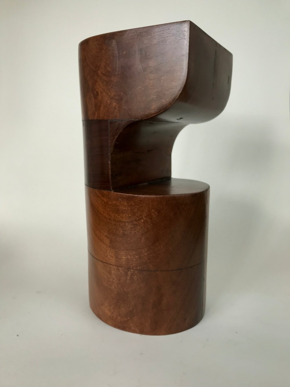 'Liner', Sapele wood, 13x14x29cm