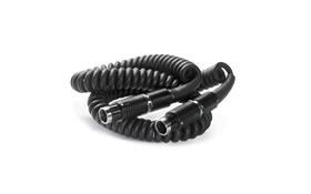 Coiled Cable (3m):  Standard 3m (10') coiled cable used to connect Wolf Pack system components in several configurations.