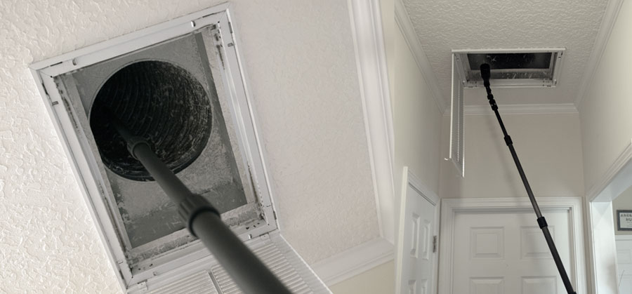 Examples: Inspection of an interior location. Wolf Pack extendable poles provide the needed extension of the camera up into hard to reach areas, as well from a position of safety.