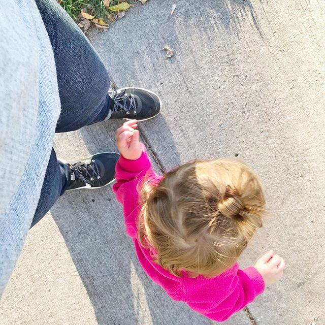 Learning to walk is the perfect metaphor for how I feel about life right now. Fall down way too many times to count and struggle to get back up on my feet. Change has never come easy for me, and navigating the unfamiliar rhythms of the changes we are currently facing cause me to fall deep into anxiety. But just as I encourage E to stand back up every time she stumbles, I'm telling myself the same thing. And I'm telling you this too. Keep going, one small step at a time. These steps lead us on a big adventure and it is one worth stepping out for. #hollythoughts