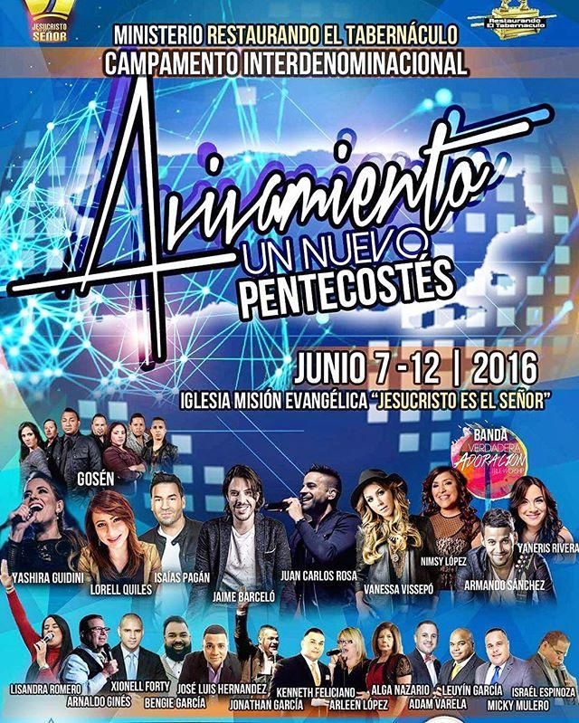 Próximo 7 - 12 de junio #JuanCarlosRosa #Avívanos #YoCreoJCR