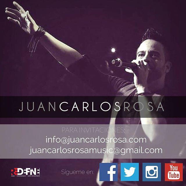 Recuerda que para invitaciones puedes escribirnos a info@juancarlosrosa.com  o  juancarlosrosamusic@gmail.com #JuanCarlosRosa #avivanos #Avívanos #YoCreoJCR #nuevotiempo