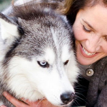 Heidi with her Siberian husky, Pearl.