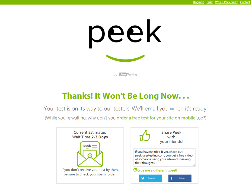 PEEK | A honest review of your site.