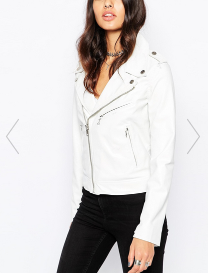 Fall to Winter Outer Wear Must Haves | White Leather Jacket