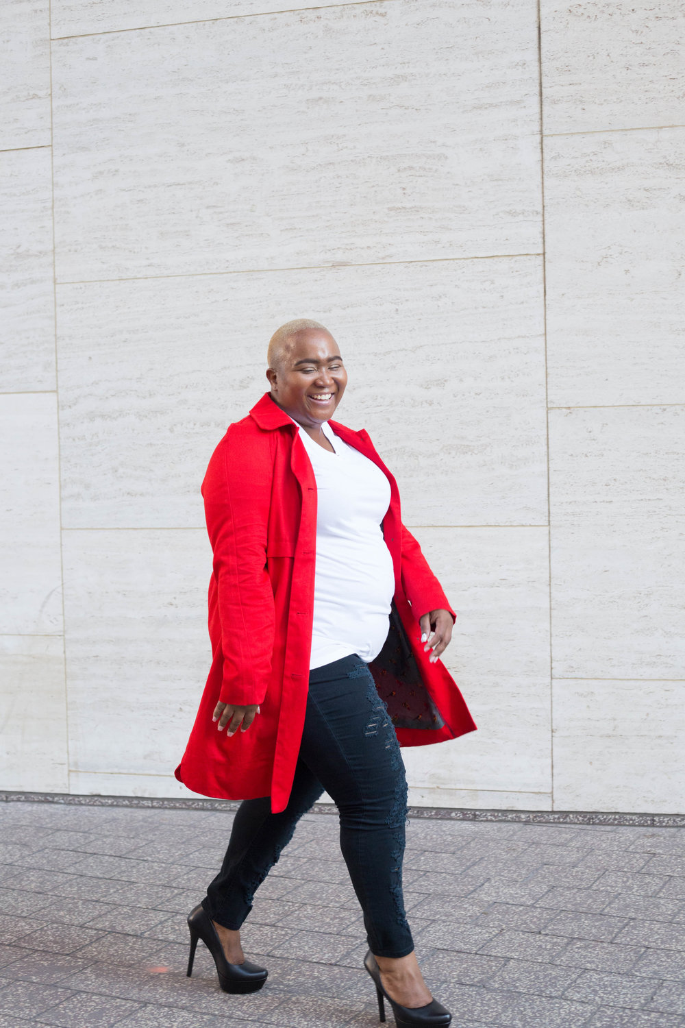 Red Coat Fashion | Texas Portrait Photographer