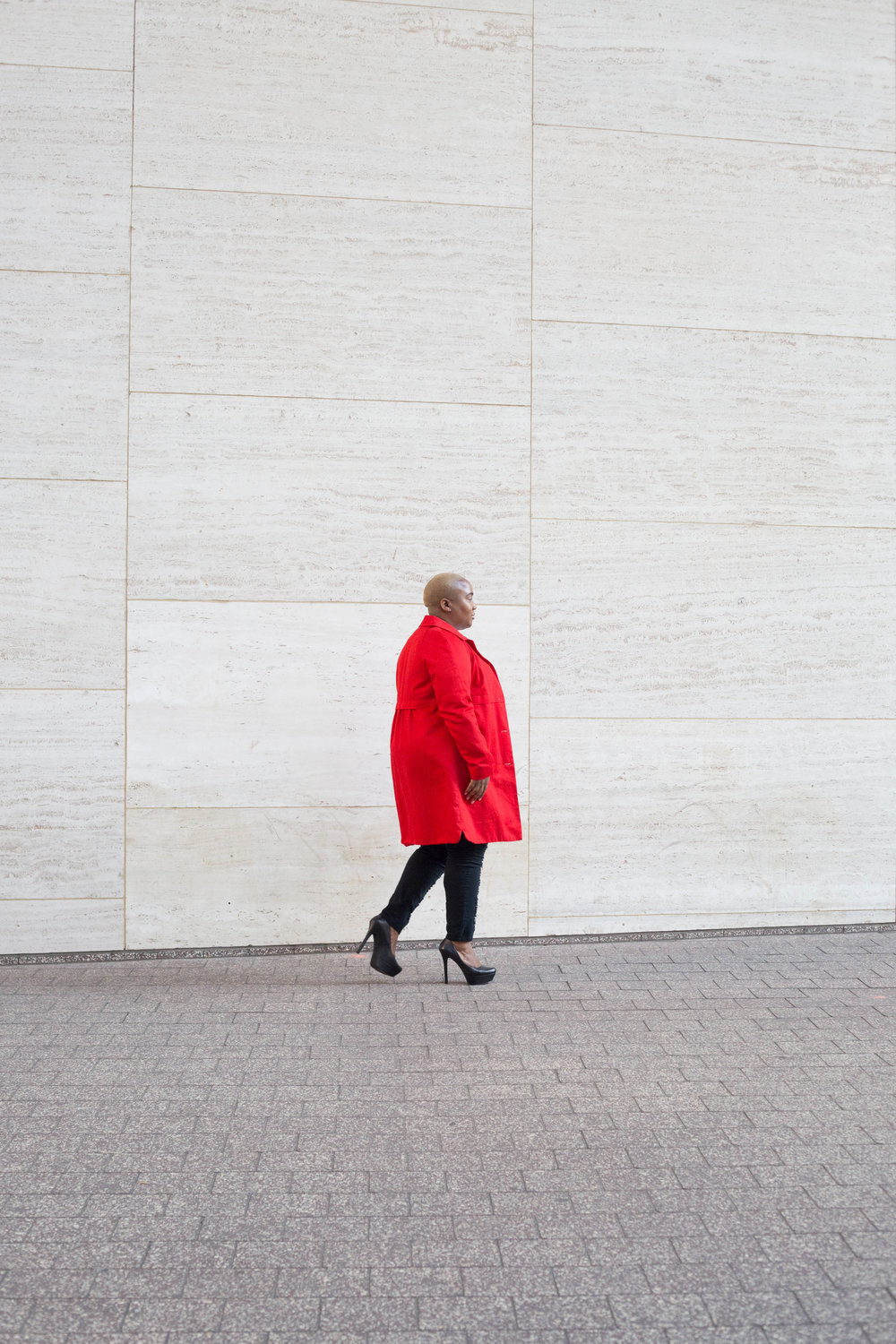 Blogger Style Portraits | Red Coat Details
