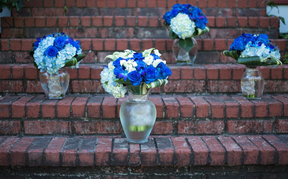 Blue Orchid Bridal Bouquets :  T + M wed | Kemah Gardens - Texas Weddings : Vashti Co. Photography