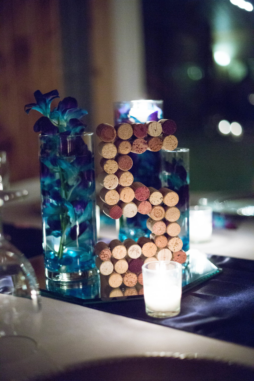 Cork Number Table Details : T + M wed | Kemah Gardens - Texas Weddings : Vashti Co. Photography