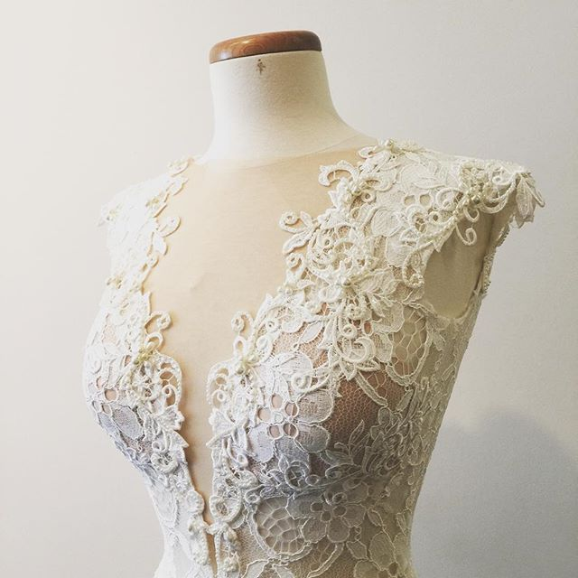 This Berta beauty is sold to a happy bride-to-be who #founditatthefind, but we have a small selection of Berta samples in store now.    Make an appointment or just pop in and visit us.