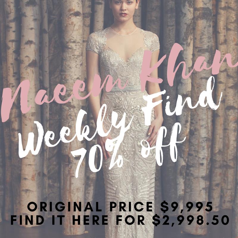 Weekly Find Naeem Khan Sample Bridal Gowns Discount Designer