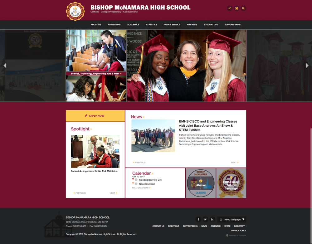 BMHS Website Redesign  Copywriting, Content Strategy, Digital Strategy, Site Redesign