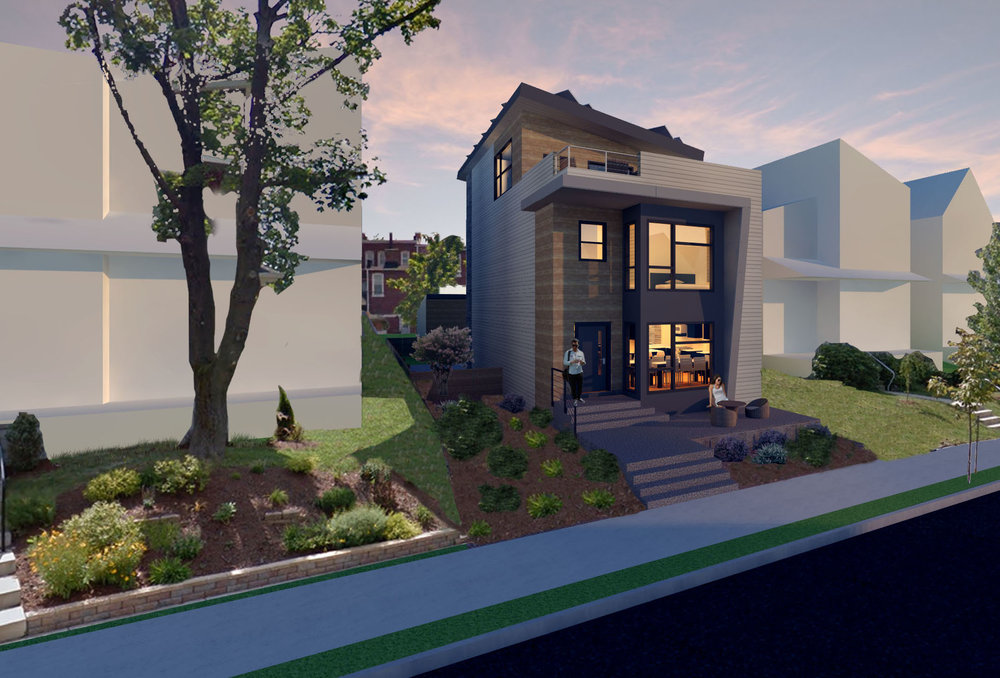 N Euclid Ave Solo House Front Evening Render 6-29.jpg