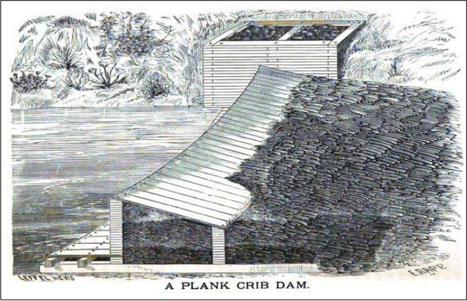 Plank Crib Dam