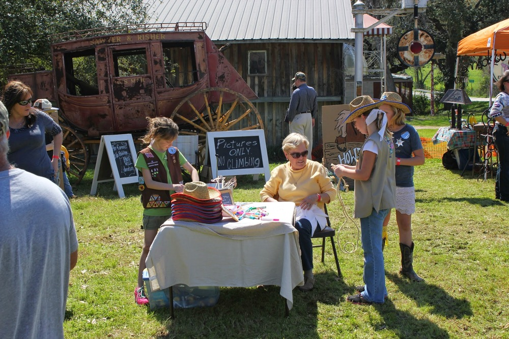 More fun kid stuff at Texas Ranger Day like sack and pony races, crafts, folk demonstrations!