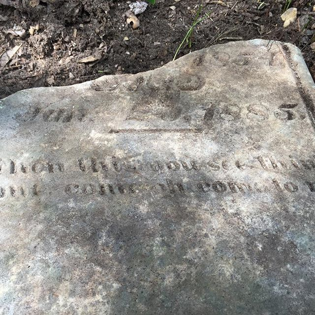 The ironies we see at historic sites never cease to amaze us! This is all that remains of one tombstone at Mt Zion Cemetery outside of Burton, Texas. Just another mystery on our list to solve! ;) #burtonheritage #burtontx