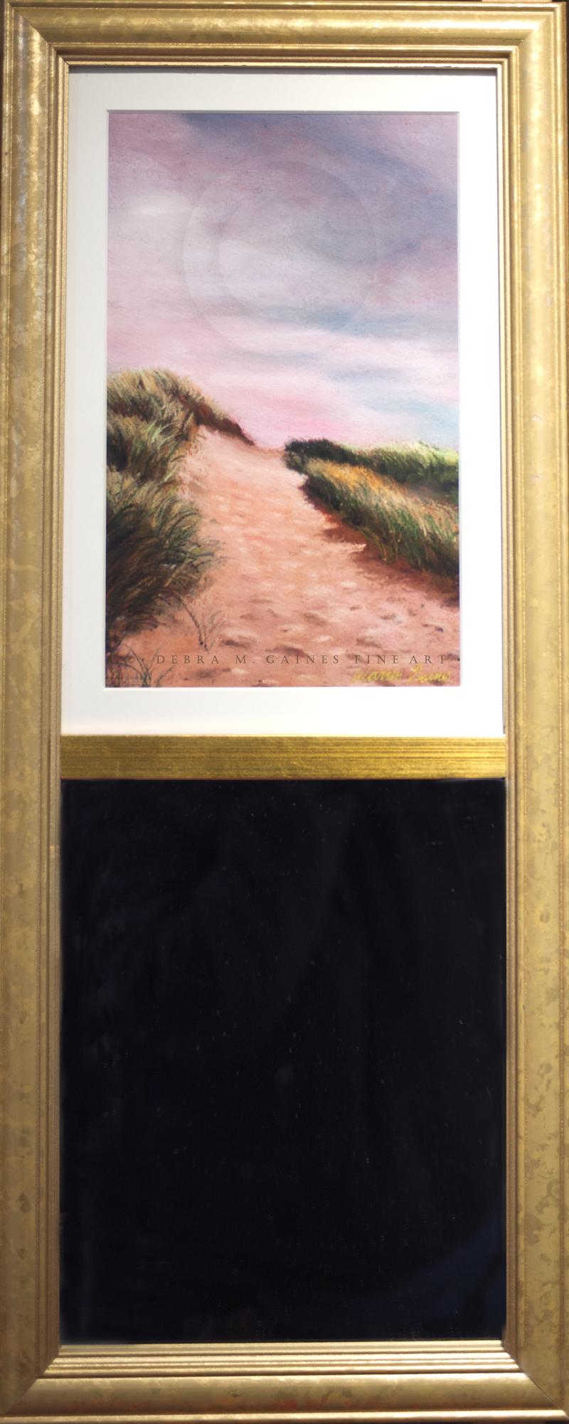 Sunset Beach Path Art Mirror
