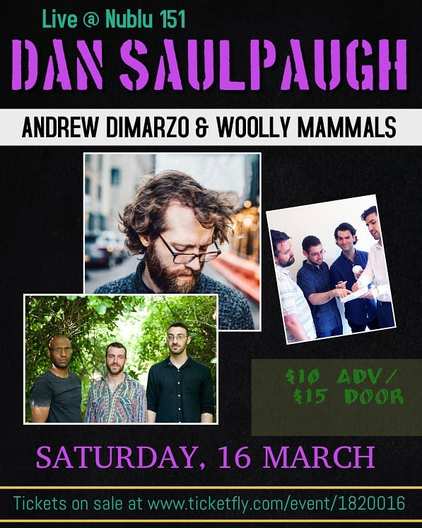 My next show is at @nublunyc Saturday, March 16th headlining a bill with @woolly_mammals and @andrewdimarzo. It's my first time playing that venue, and I'm very excited.  Doors at 7:45  Show starts at 8 I play at 9:40.  Tix in bio
