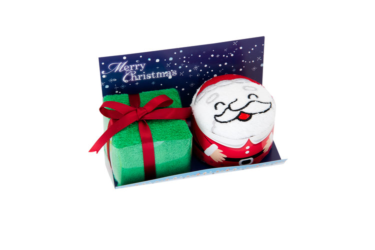 Couture towel, origami, pet, santa, winter, cotton, charming, delightful, elegant, gift, giveaway, sweepstakes, décor, made-to-order, baby shower, birthday, christmas, love, smile, gift box