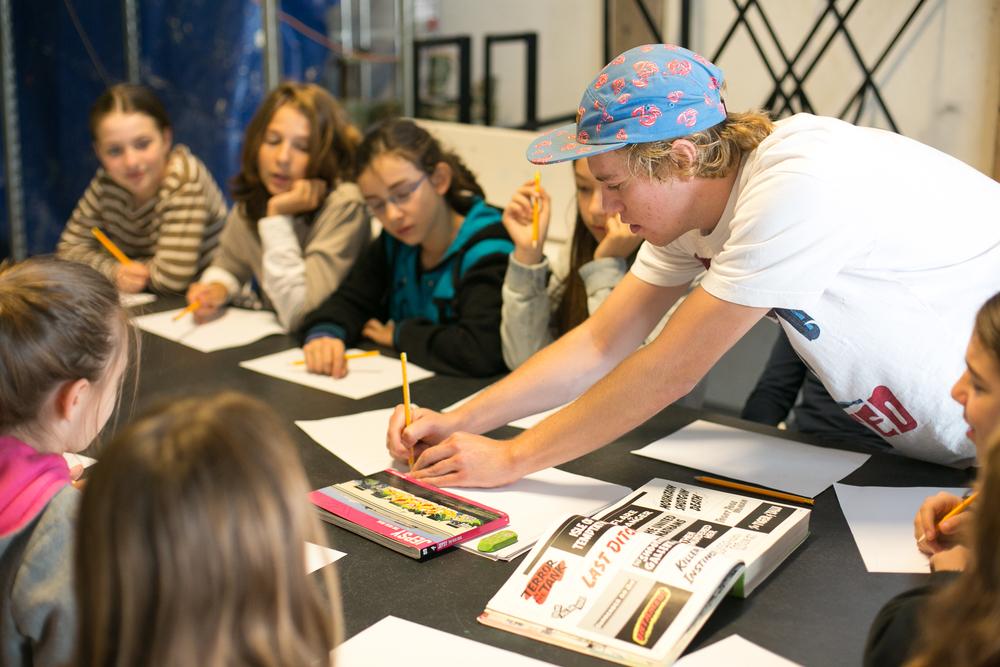 Graffitiworkshop Kinderfeestje Den Haag 2015 Tekenles Graffitiles.jpg