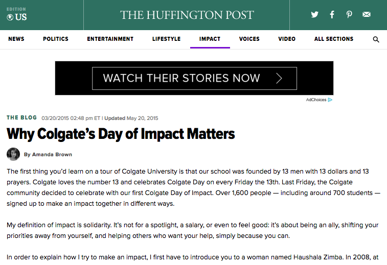 The Huffington Post: 03.20.2015
