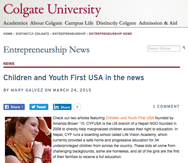 Colgate University: 03.24.2015
