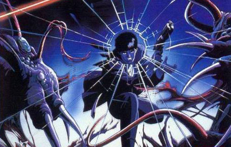 Wicked City- 1987  My brothers and I had crates filled with all manner of VHS tapes of anime, kung fu and a host of other random Japanese and Chinese films. Most of them are still in my parent's basement back in New York but the one that I miss the most and remember losing in recent years was Wicked City. In this dark fantasy anime, you're thrusted into a world where a peace treaty between humans and demons has been in effect for almost a thousand years. The story follows a human, Taki Renzaburo and his partner of sorts, the beautiful demon Makie, as they're charged with protecting a diplomat nearing the renewal of the peace treaty. However, an entire world of demons and assassins (some human) are doing all they can to see that peace is never renewed between the human world and the dark realm.