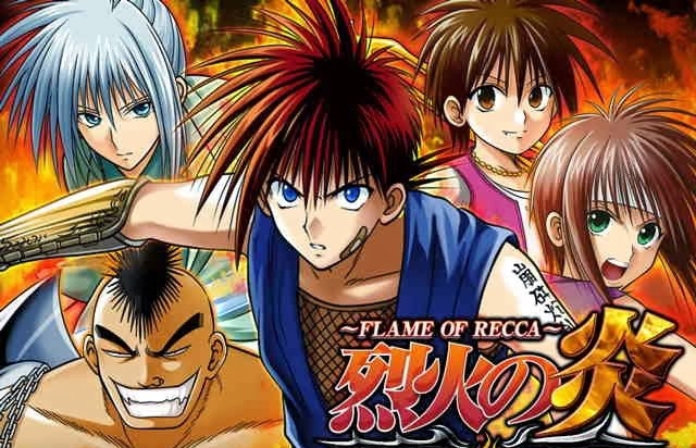 Flame of Recca- Rekka no hono (1997)  The flame of recca is an awesome story of self-discovery and friendship. The story follows Recca Hanabishi, a young man who's interested in becoming a ninja. Though he's not truly ninja, recca likes to boast publicly that he is and anyone who defeats him earns his loyal service as a ninja. Recca eventually pledges his service to Yanagi Sakoshita, a young lady with immeasurable kindness, compassion and powers to heal. Through this meeting and connection, recca discovers he's truly ninja, a descendant of the leader of the Hokage, a once noble and powerful clan that was dismantled by the shogun Oda Nobunaga.  On his journey of self-discovery, recca also learns of the mystical powers of his clan and dormant elemental powers that lay within him.