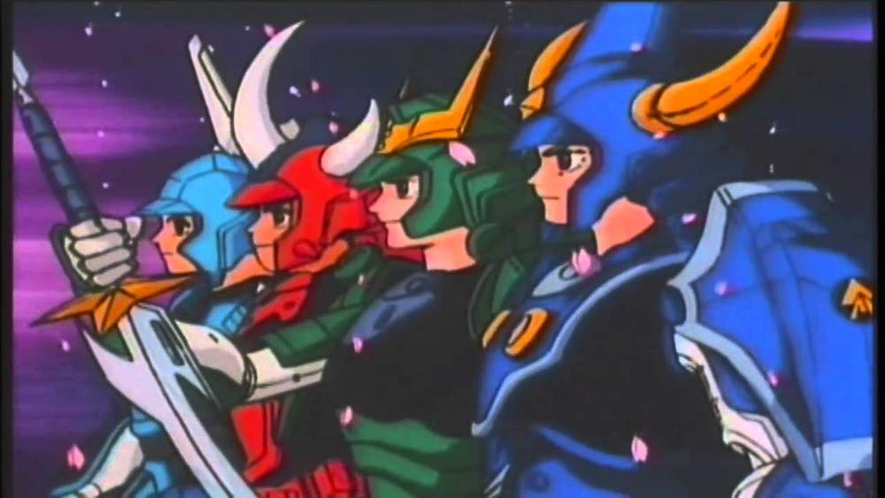 Ronin Warriors- Yoroiden samurai troopers (1988)     I can still remember all those red-eyed early mornings I would wake up at 6am to make sure I catch this show. Though Short lived, running for only one season, ronin warriors were on the best anime of the late 80's (in my opinion) and inspired a host of later anime. The premise was straight forward, five warriors, Ryo, Sage, Cye, Kento and Rowen assisted by teacher and mystical monk try to stop demon overlord Talpa on his quest to conquer, destroy and subjugate all of humanity.