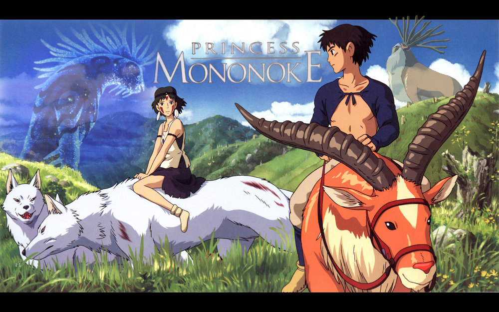 Princess Mononoke  (1997)  Princess Mononoke is one of those films that both the hardcore and casual anime fans love equally. Though myself and many other may view it as a copy of an earlier American animated film, Fern Gully- Princess Mononoke removes itself from that comparison in terms of action, visuals and bit more mature content within the telling of the story. In this tale, taking place in the muromadi period, a demon boar god attacks a village; prince Ashitaka kills the creature but is accidentally infected and becomes corrupted when the demons blood comes in contact with his skin. At first the corruption bestows superhuman abilities on Ashitaka but things rapidly take a turn when he realizes the infection is also slowly killing him, this sets the prince on a journey to find a possible cure.  Ashitaka then meets Jiko-bo, a monk that tells him of a great forest spirit that can help him. However, Ashitaka runs into the reclusive forest princess, Mononoke. Upon meeting her, his journey takes a turn as they join forces to stop the death of sacred forest and all its inhabitants, including the forest god capable of healing him.
