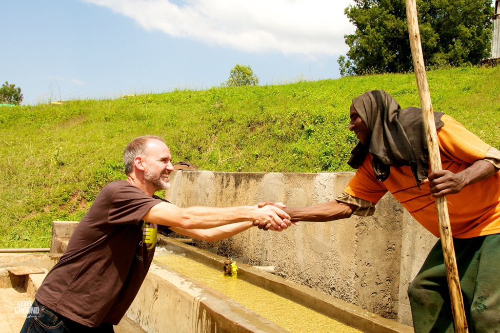reg and coffee washer in ethiopia