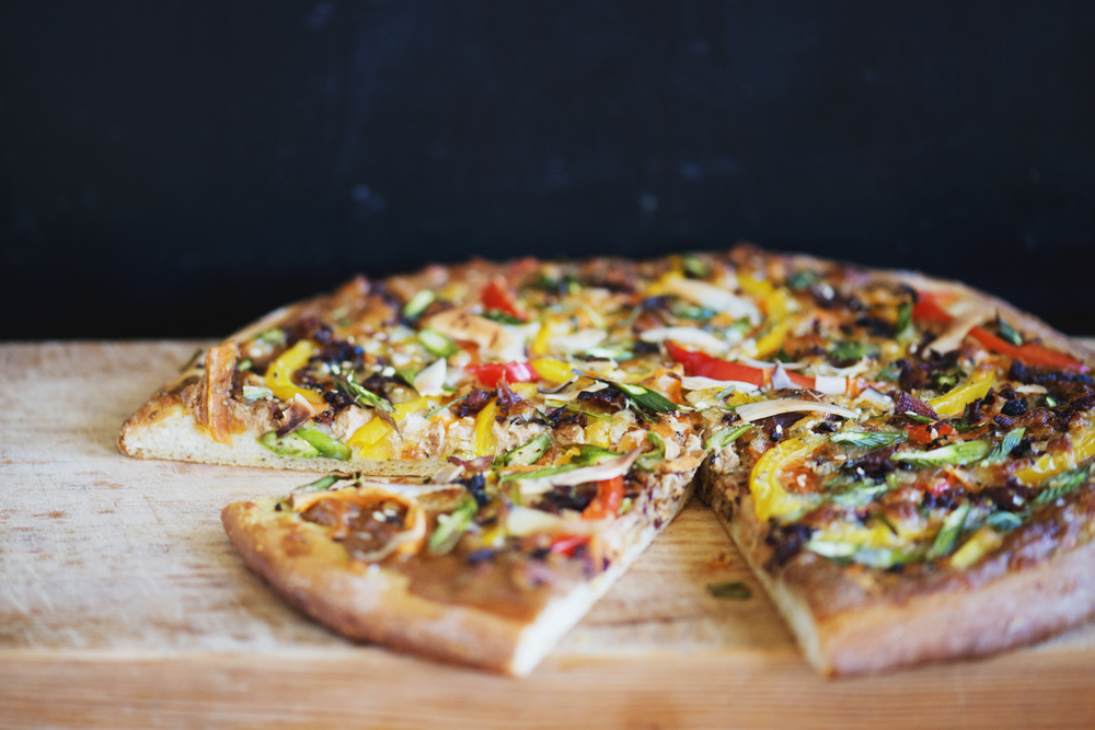 Cooked Thai Pizza