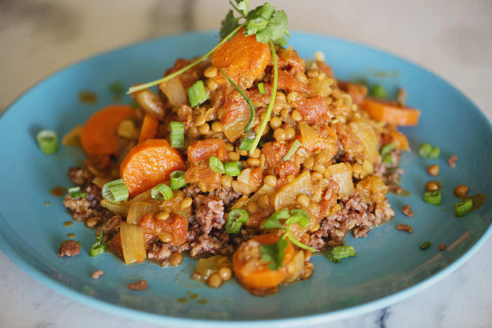 RECIPE: Quick dinner - Long-Grain rice and curried lentils with coconut oil. Healthy and easy!
