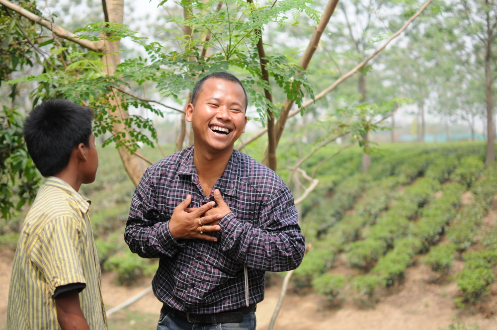 Tenzing, tea grower in Assam