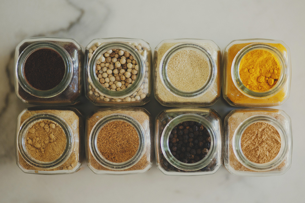 spices arial view