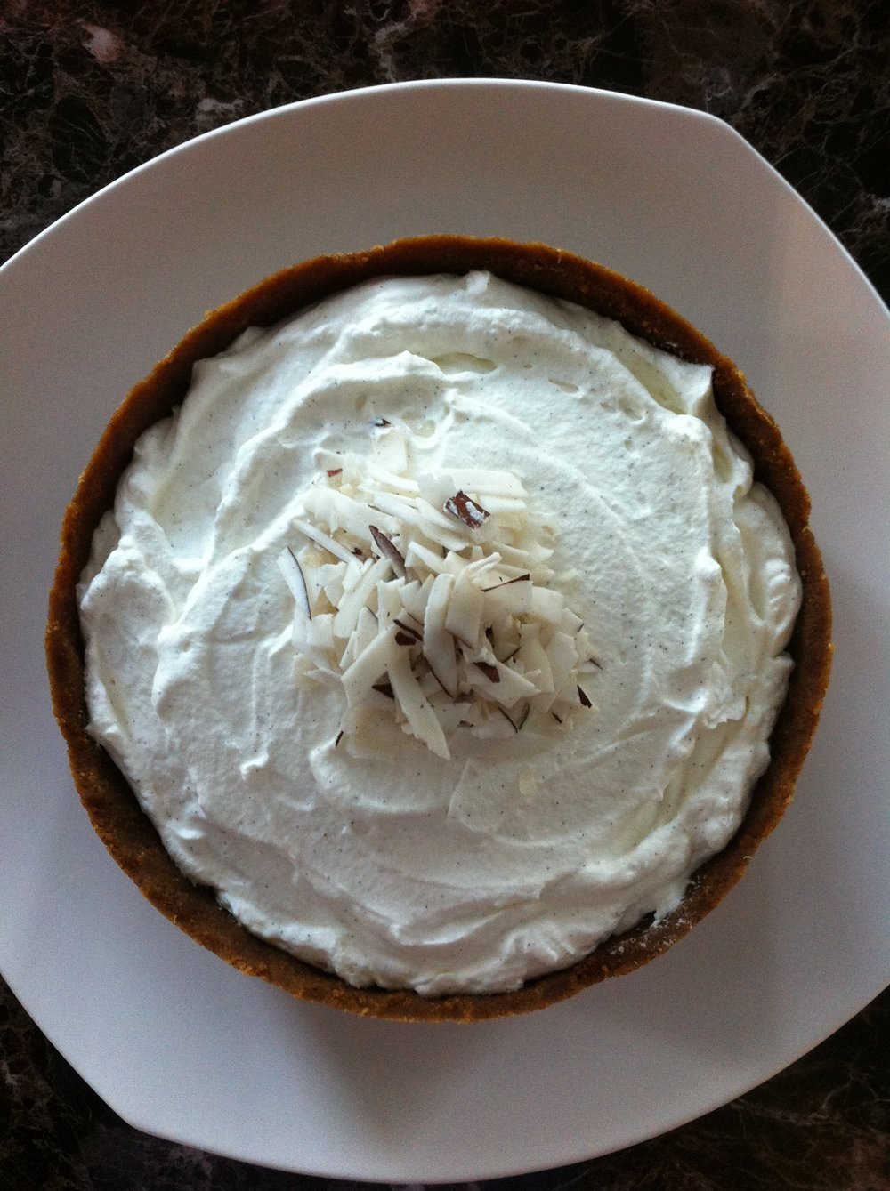 No Bake Coconut Cream Pie with Fair Trade Ingredients