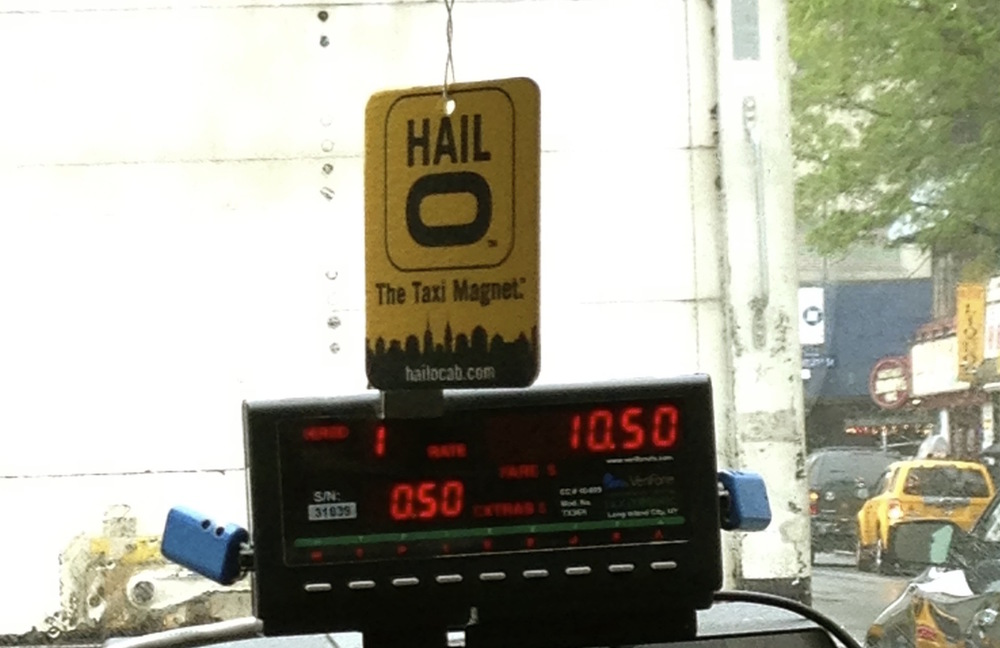 Hailo air freshener spotted in a cab!