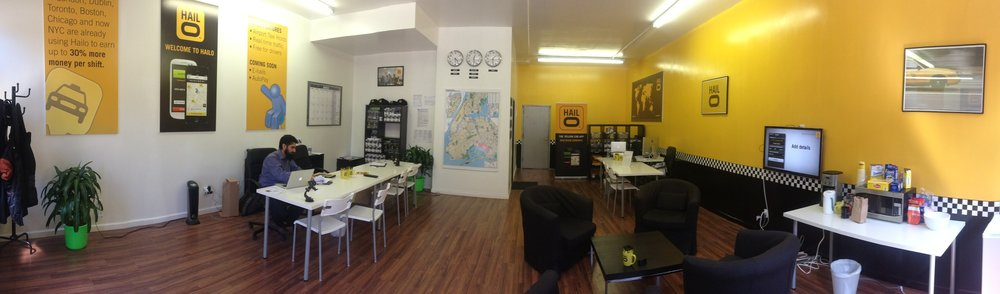 Interior of the Driver Office, for which I designed posters and promo items.